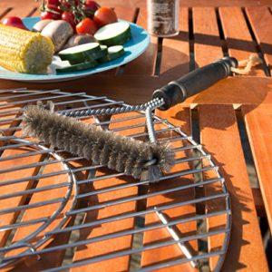 Bruzzzler Grillbürste mit Edelstahlborsten 3-seitig1